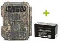 Fotopasca OXE Panther 4G, externý akumulátor a napájací kábel