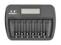 OXE Nabíjačka batérií AA / AAA na 6 ks, s displejom