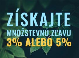 Získejte množstevní slevu 3% nebo 5%!